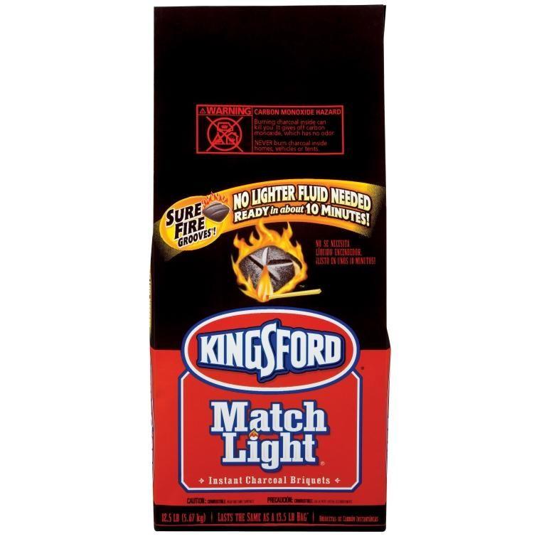 Kingsford 30487 match light charcoal briquets 125 lbs