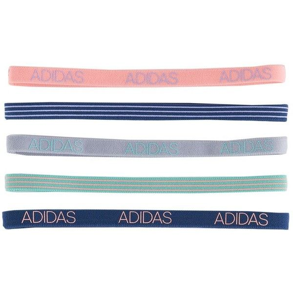 Women s Adidas Creator 5-pk. Striped   Solid Headband Set ( 8) ❤ liked on  Polyvore featuring accessories 04edaa110