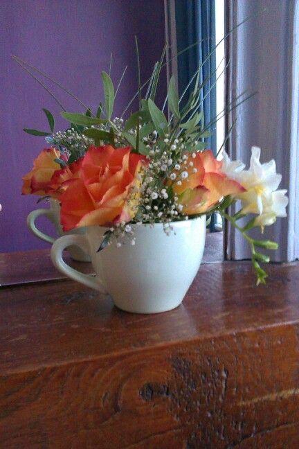Fleur et tasse