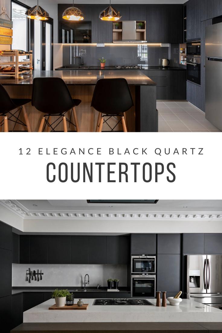 12 Black Quartz Countertops Ideas For Kitchen Counter Black
