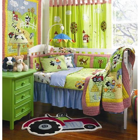 Farm Baby Bedding For Boys | Farmyard Baby Crib Bedding by ...