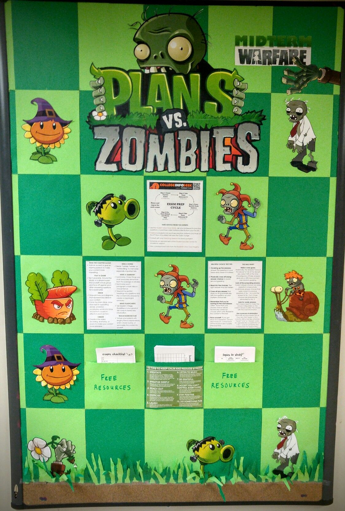 Video game themed bulletin board for halloween plants vs zombies video game themed bulletin board for halloween plants vs zombies toneelgroepblik Gallery