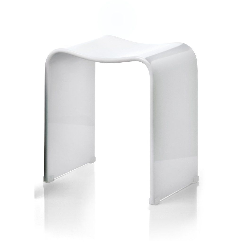 Shower Bench DWBA Backless Archie Stool Chair for Bathroom ...