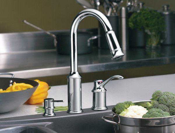 Chrome Pull Down Kitchen Facet By Moen Modern Kitchen Faucet