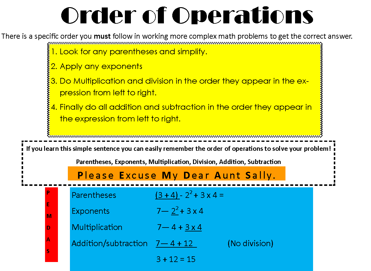 worksheet Math Order Of Operations Rules algebra order of operations rules homeschool pinterest rules