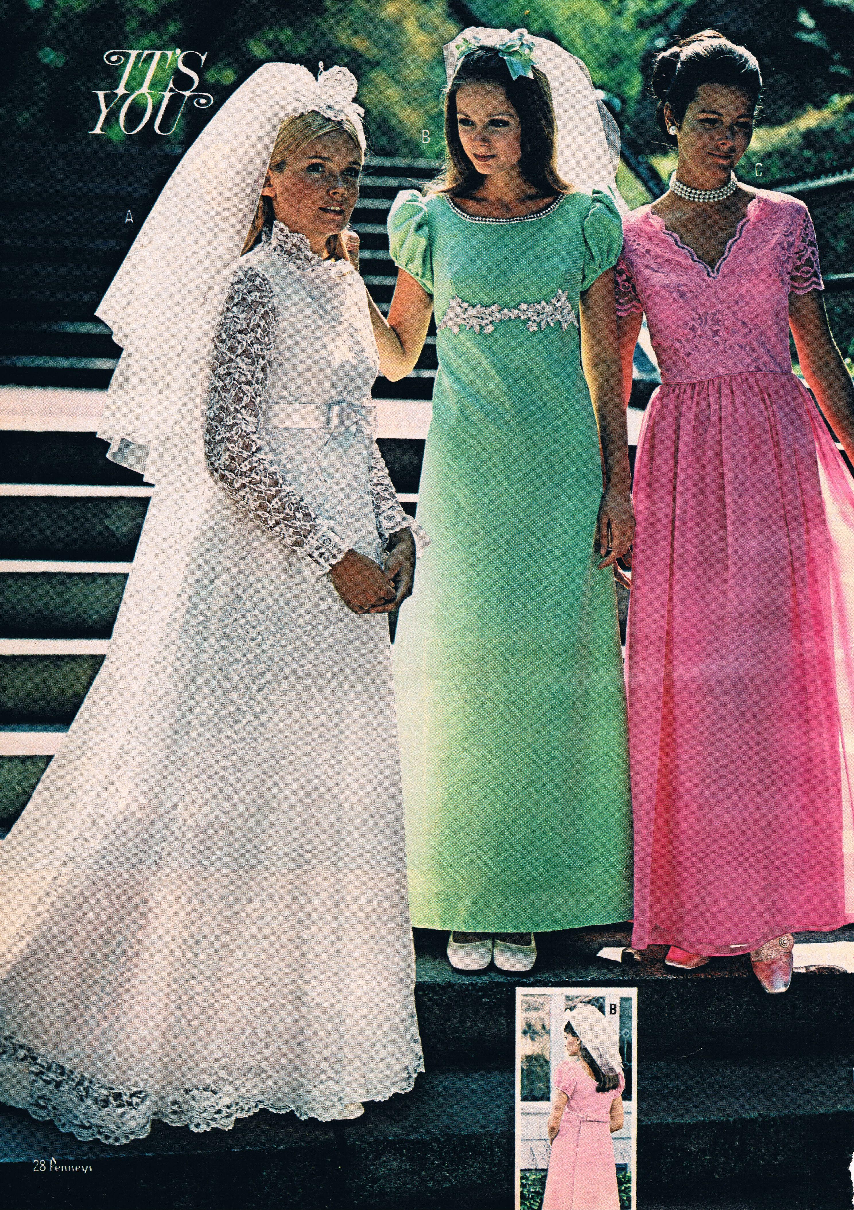 1970s Jc Penney Catalog Bridal Fashions 1960s Wedding Dresses Vintage: Jcpenney Vintage Wedding Dress At Websimilar.org