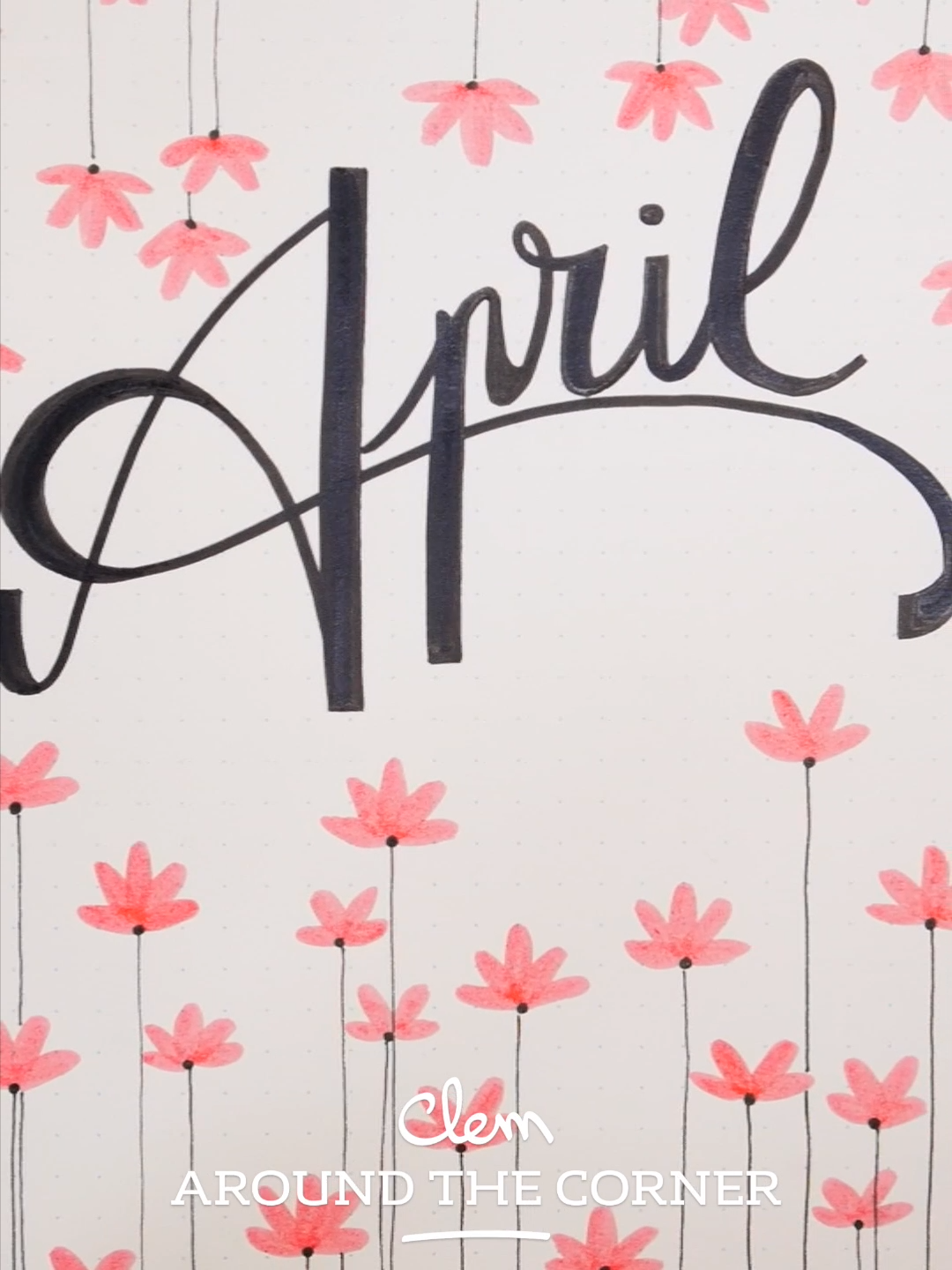 BUJO - Monthly Cover : April - Graphic Spring Inspiration