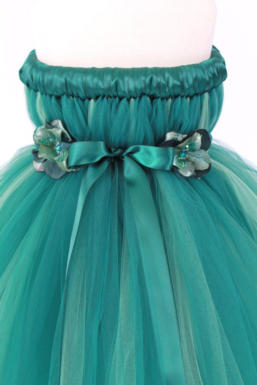 Flower girl tutu dress green divine destiny 34
