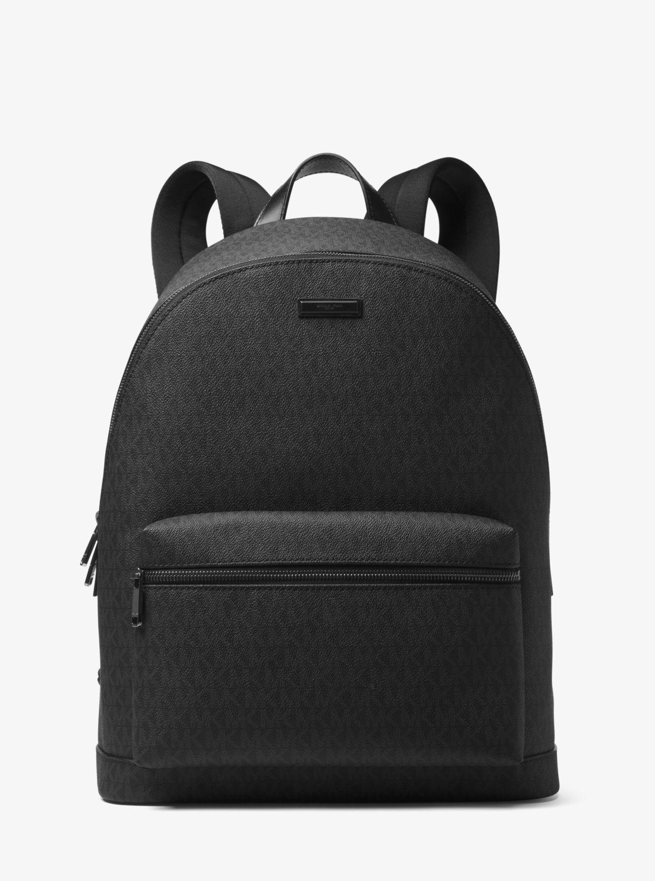 077f3fa604cf Outlet Michael Kors Black Mens Jet Set Logo Backpack Online Shop ...