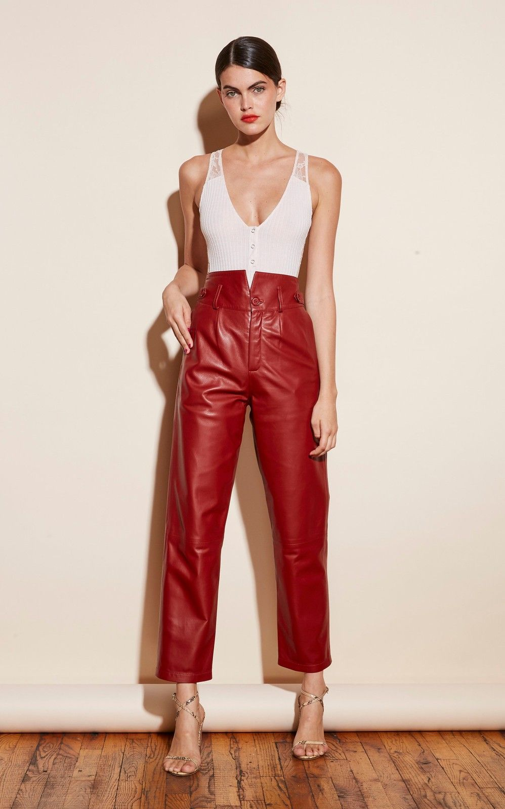 Pin By Fena Lap On Fall Looks In 2020 Ribbed Bodysuit Waist Pants Eccentric Clothes