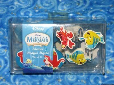 New Disney The Little Mermaid shower curtain hooks | Princesses ...