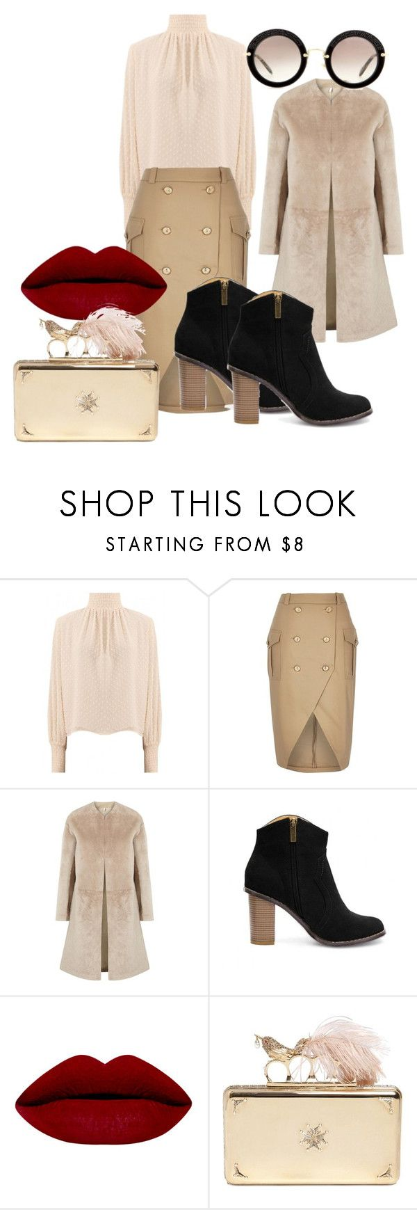 """Nude"" by dzenita-219 on Polyvore featuring River Island, Helmut Lang, Alexander McQueen, Miu Miu, women's clothing, women's fashion, women, female, woman and misses"