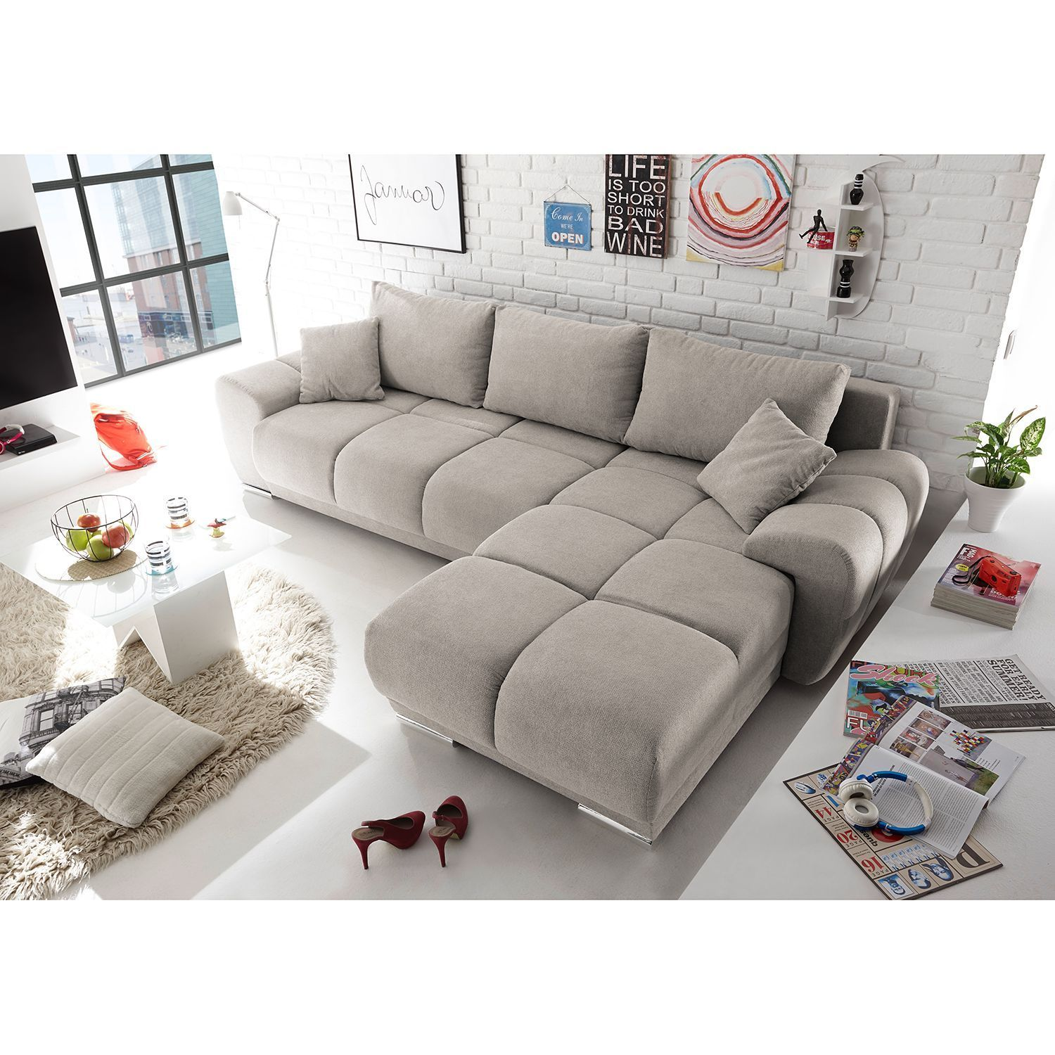 Westwell Corner Sofa With Sleeping Function In 2020 Corner Sofa Living Room Designs Couch