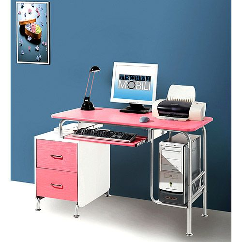 Pink White Computer Desk Computer Workstation Desk White Computer Desk Workstation