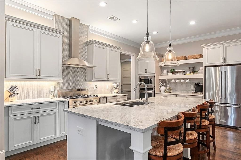 white and light gray kitchen cabinets with natural wood accents are so appealing light grey on kitchen interior grey wood id=11996