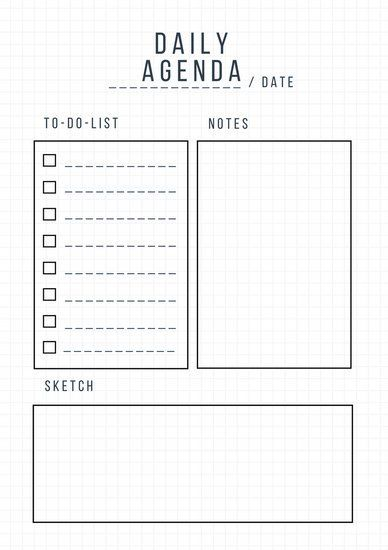 Day Planner Template - Daily Planner Template Free Printable Daily