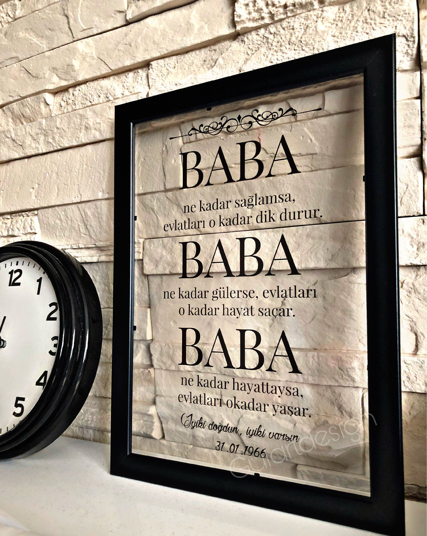 Islam Baba Anne Vatertag Babalar Gunu Anneler Gunu Geburtstag Geschenkideen Transparentbilder Isl Dad Birthday Daddy Birthday Gifts Diy Birthday Gifts