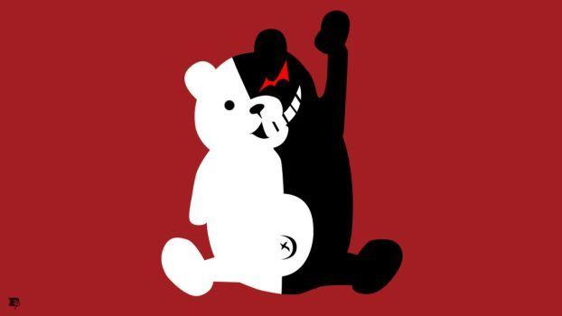 Danganrompa Monokuma Bear Minimalist by MrRobotboy