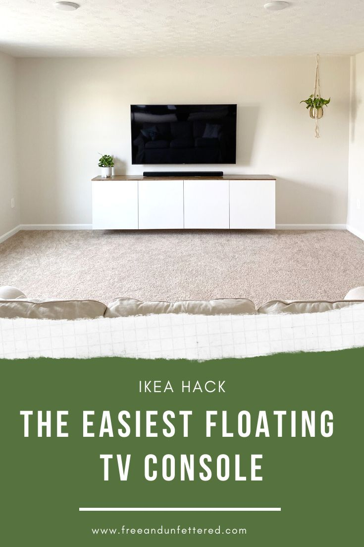 IKEA HACK: The Easiest Floating TV Console