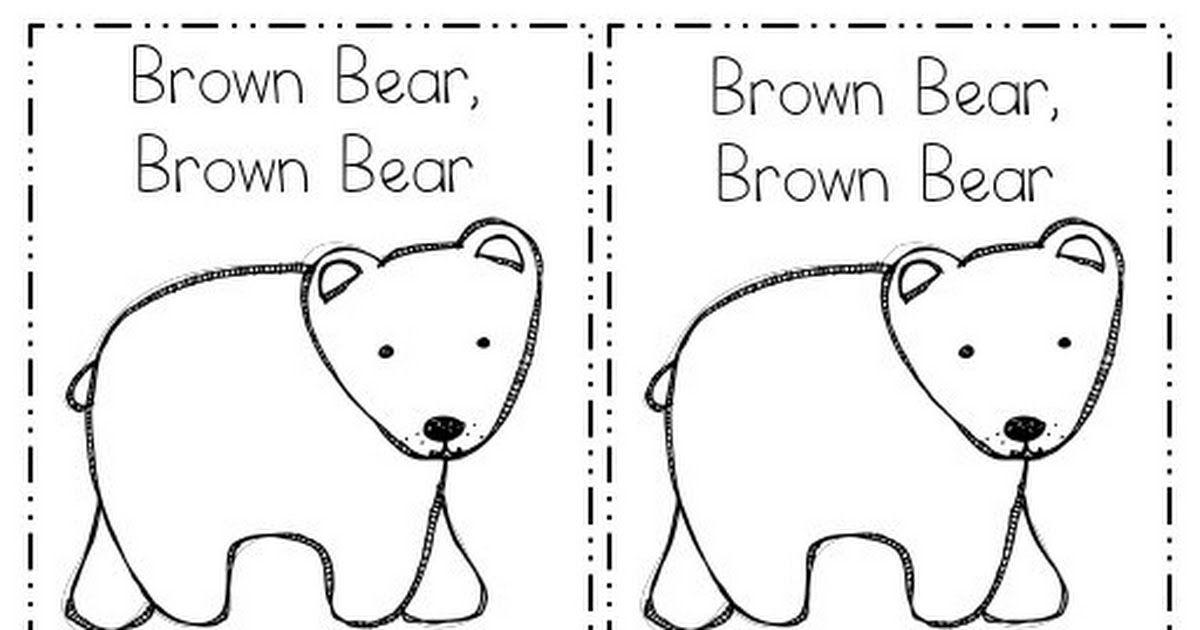 Brown Bear Book Pdf Bears Preschool Brown Bear Book Preschool Activities