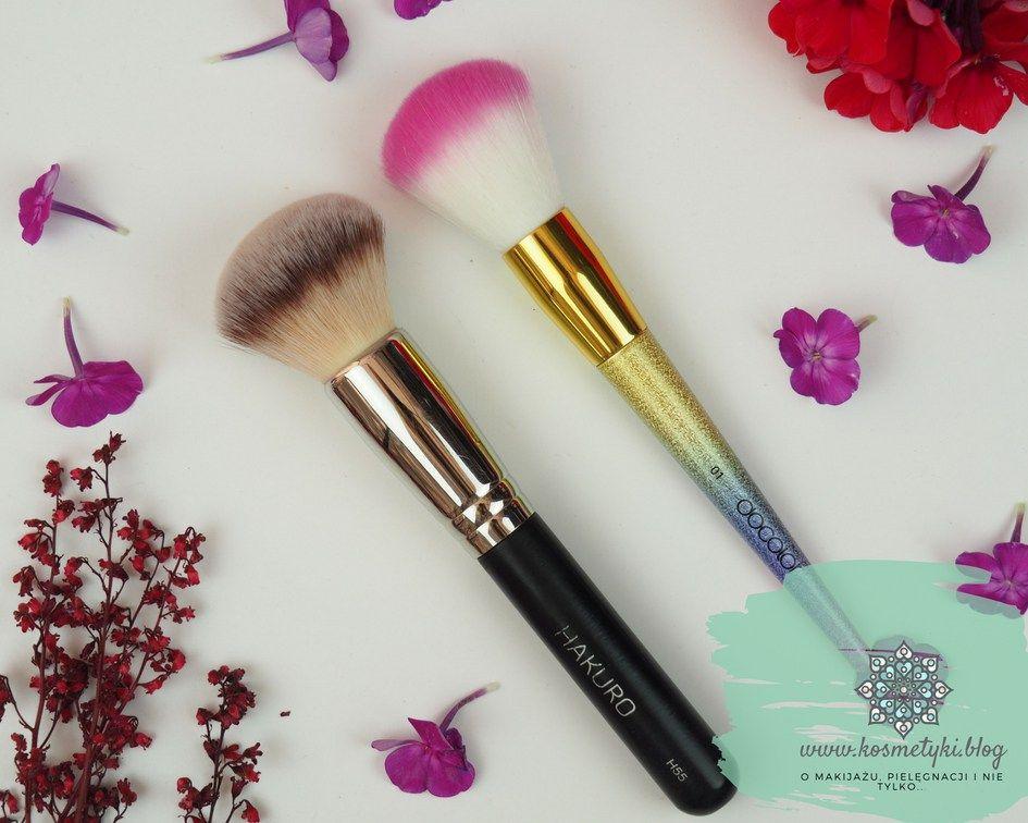 Porownanie Pedzli Do Pudeu Docolor I Hakuro H55 Powder Brush Beauty Brush