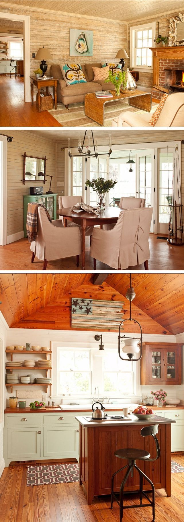 Restored Southern Cottage Living Room Dining Kitchen This Little