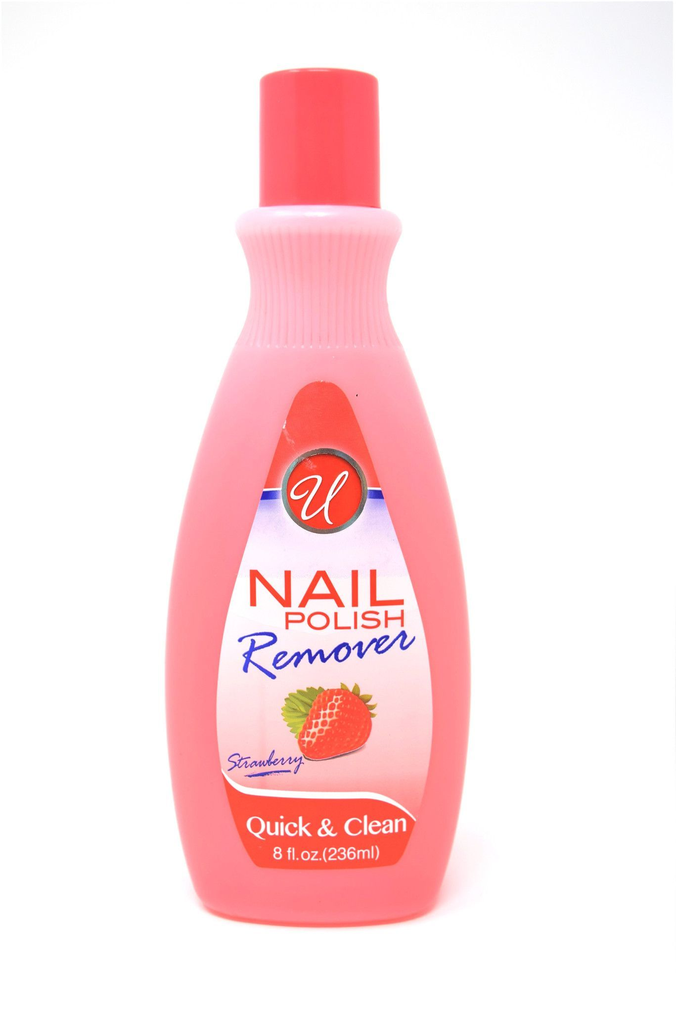Universal Nail Polish Remover Strawberry Scented, 8 oz