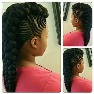 Cardi B S Mohawk Hairstyle Marley Braids Styles African Braids Hairstyles Natural Hair Styles