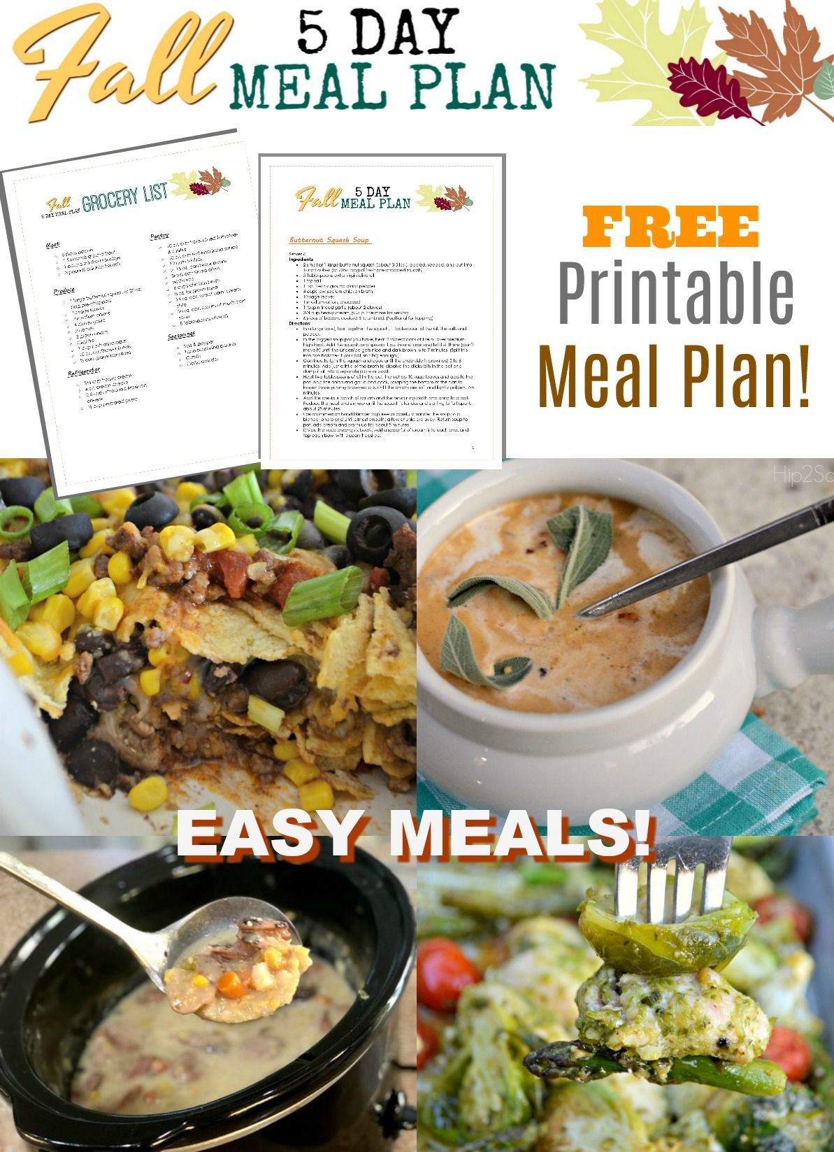 Get Cozy This Fall With Our Free Printable 5 Day Meal Plan