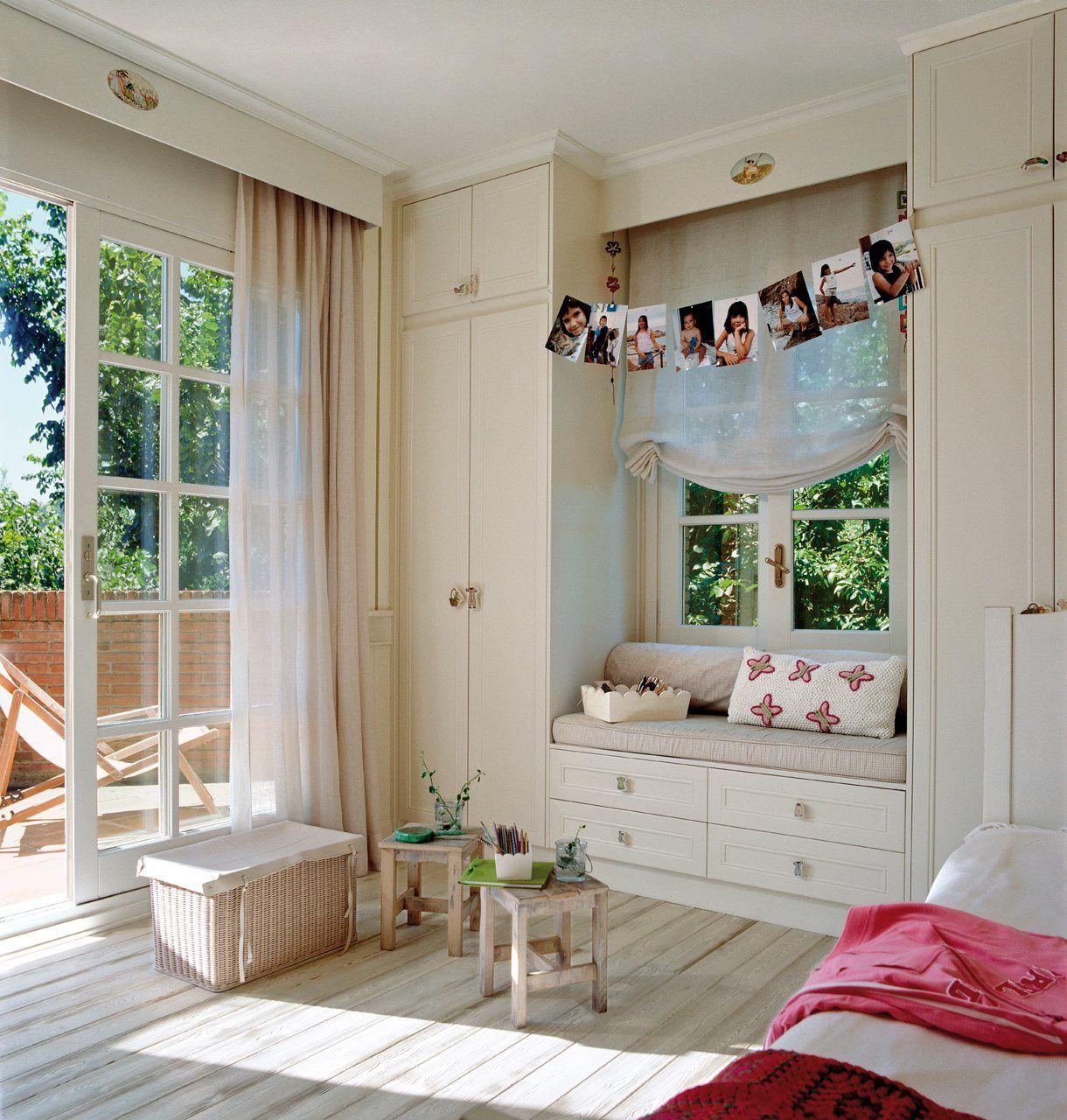 Organiza la habitaci n de los peques altillo bancos y - Baul asiento dormitorio ...