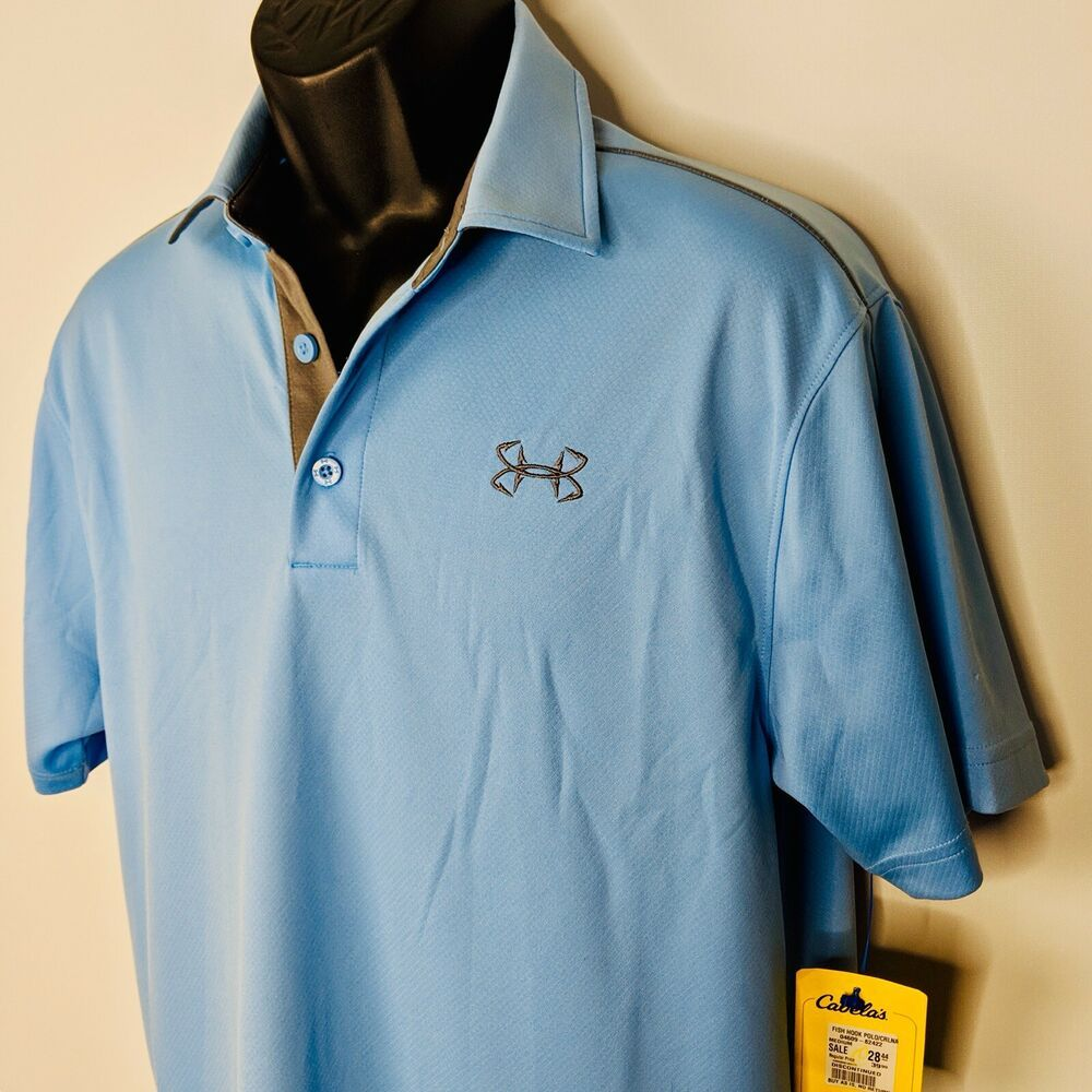 Under Armour Mens Fish Hook Polo