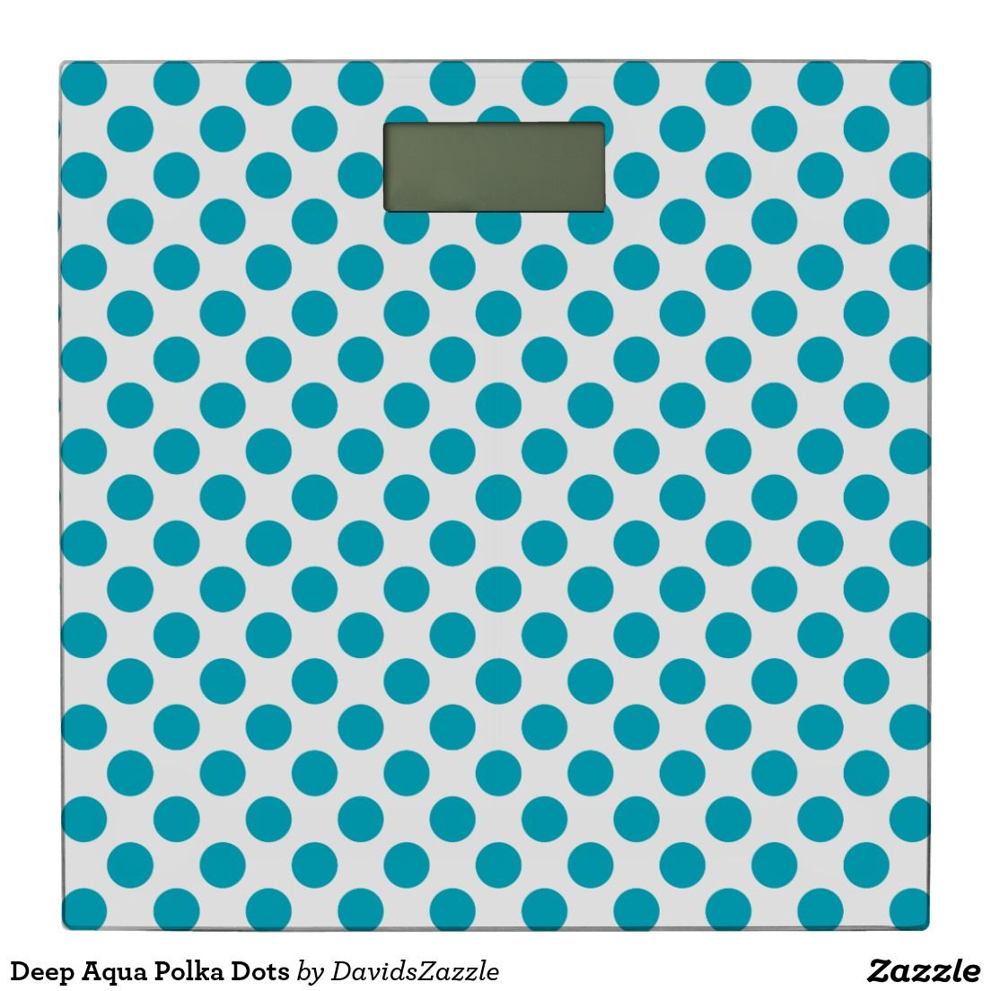 Deep Aqua Polka Dots Bathroom Scale Available on many products! Hit the 'available on' tab near the product description to see them all! Thanks for looking!  @zazzle #art #polka #dots #shop #home #decor #bathroom #bedroom #bath #bed #duvet #cover #shower #curtain #pillow #case #apartment #decorate #accessory #accessories #fashion #style #women #men #shopping #buy #sale #gift #idea #fun #sweet #cool #neat #modern #chic #blue #aqua #light #dark #white