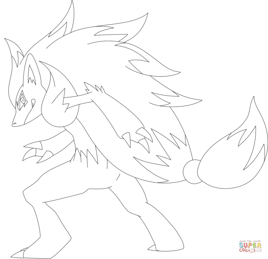 Zoroark Super Coloring Pokemon Sketch Pokemon Zoroark Pokemon