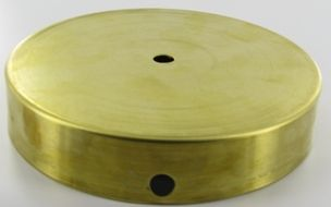 4in unfinished brass flat base with felt return18 slip hole lamp bases made from brass steel wood and marble in a variety of finishes bases are sometimes used for backplates or canopies mozeypictures Choice Image