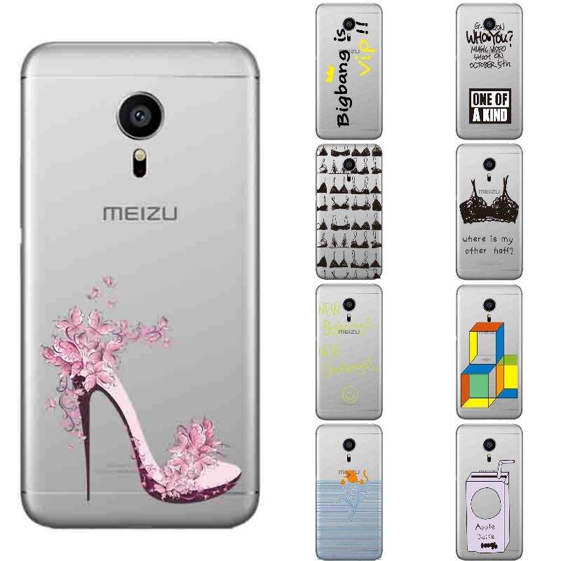 For Meizu Pro 5 Cover For Meizu Mx5 Pro Phone Case Transparent 5 5 Inch Pro5 Ultra Thin Cover Silicon Fun Bra Pattern Phone Phone Bag Mobile Phone Accessories