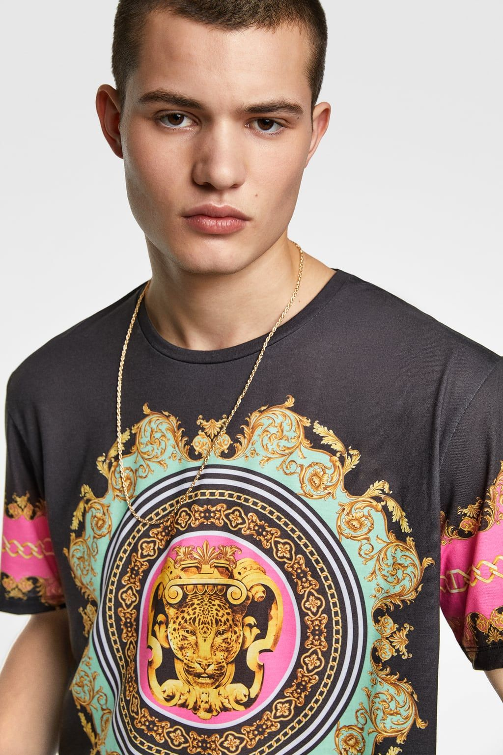 f4f2af4e14 Baroque print t-shirt in 2019 | BAROQUE | Shirts, T shirt, Baroque