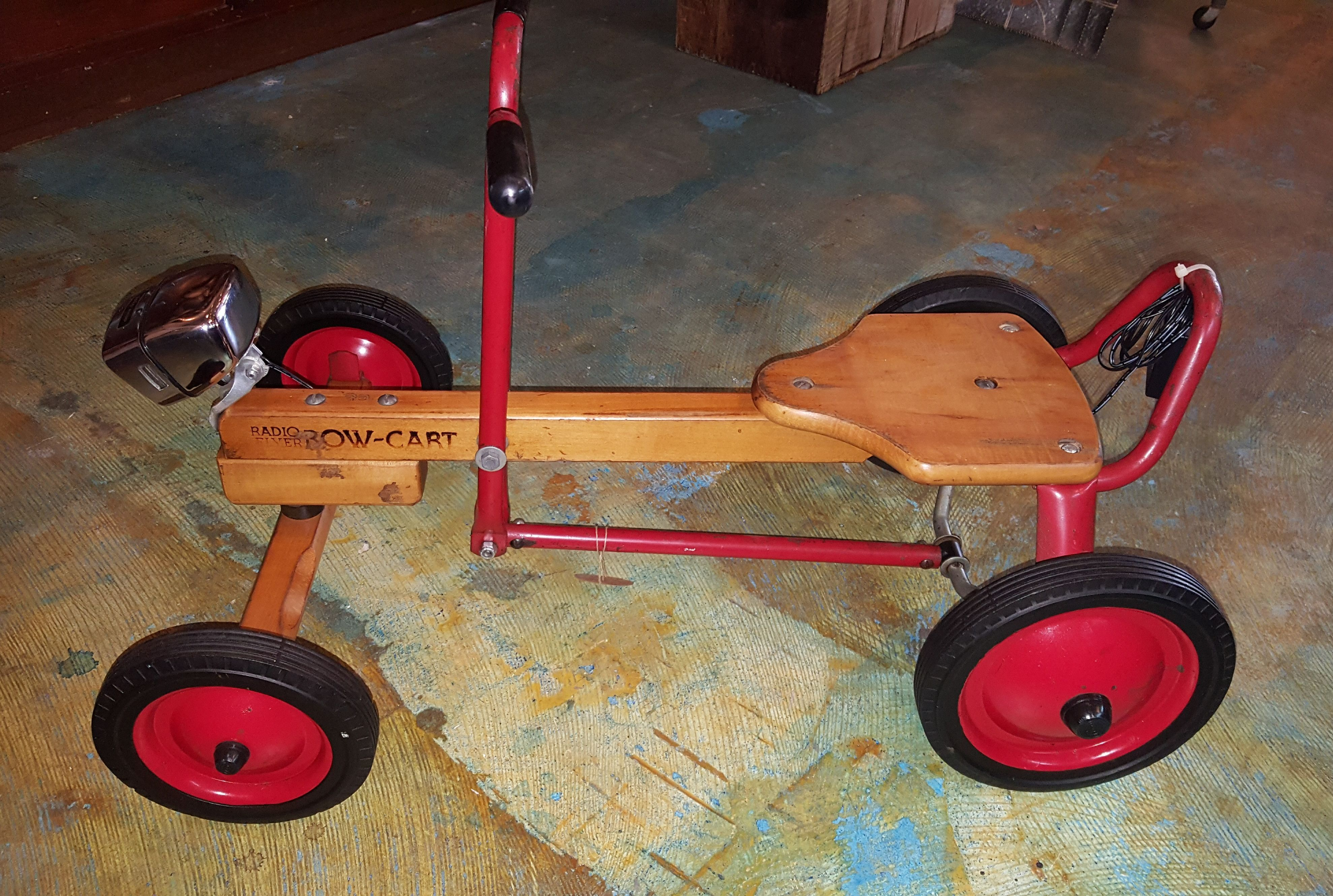 Radio Flyer Row Cart Sit On Ride With Headlight 1950s Products