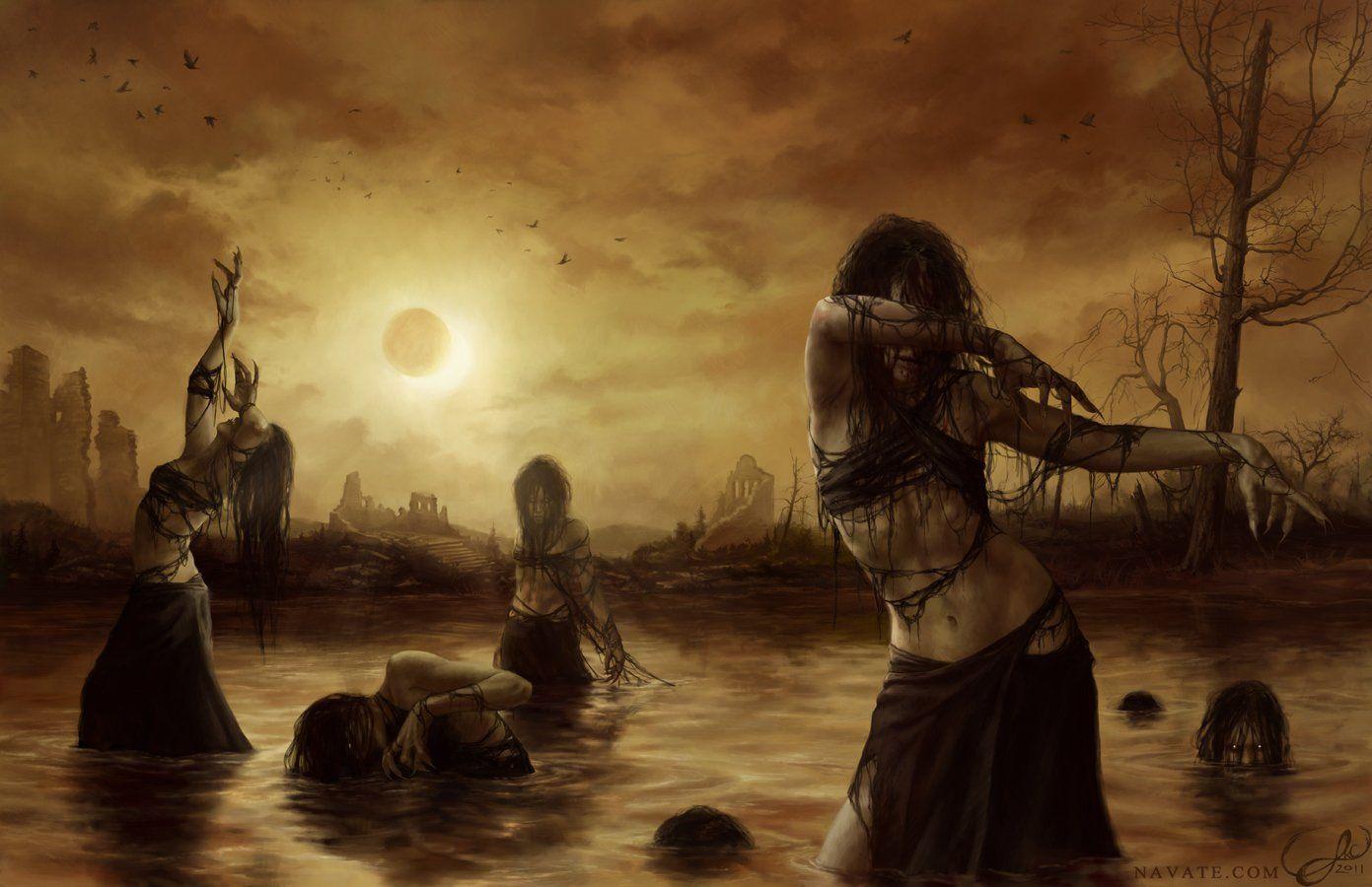 As bruxas que calam a noite   Elas habitam os bosques  Elas correm na noite  Elas emanam poder  Elas não são como fadas  São mulhere...