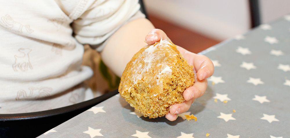 Barnas favoritt! Kombinasjonen av banan og gulrot gir en god og naturlig søt muffins.