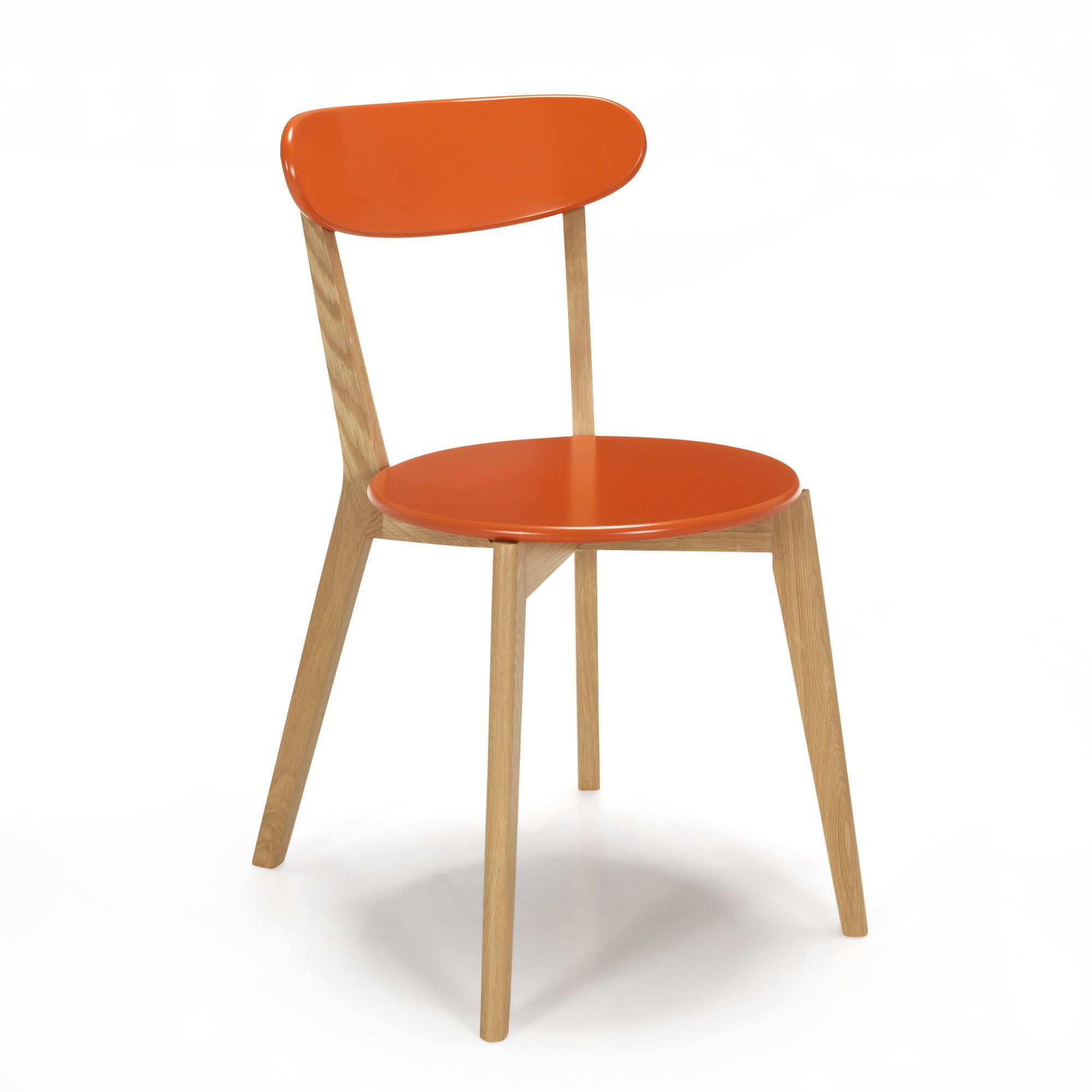 chaise design scandinave coloris corail siwa chaises tables chaises salon salle manger par pice dcoration intrieur alinea - Chaise Salon Design