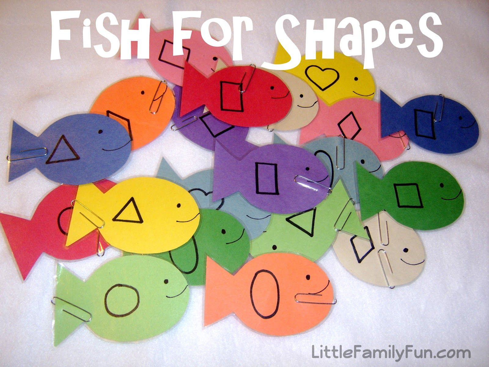 Go Fishing For Shapes Fun Activity For Toddlers Or Preschool