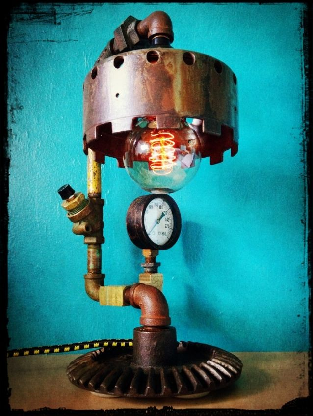 Great Artist Creates Amazing Up-cycled Functional Art Re-using Junk  www.RetroSteamWorks.com