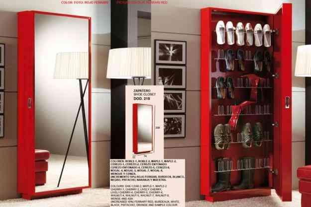 Closet zapatero zapatera minimalista cajaruro for Muebles minimalistas