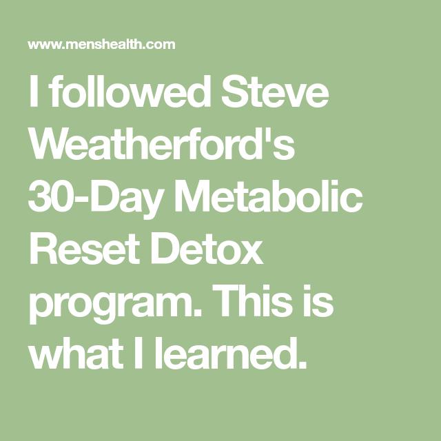 30 day metabolism reset diet