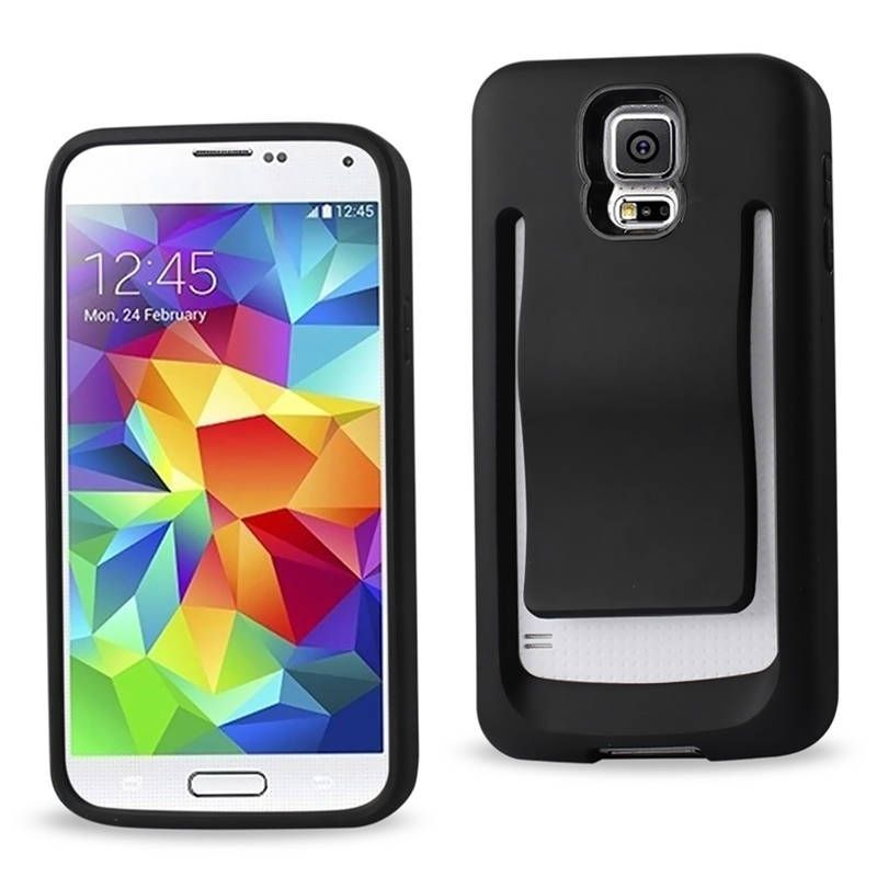 Reiko Polymer Rubberized Matte Phone Case Cover With Stand For Samsung Galaxy S5