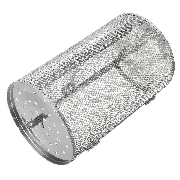 Stainless Steel Rotisserie Grill Basket For Oven Roaster Bean #rotisseriebasket #roasterbasket #cookingbasket