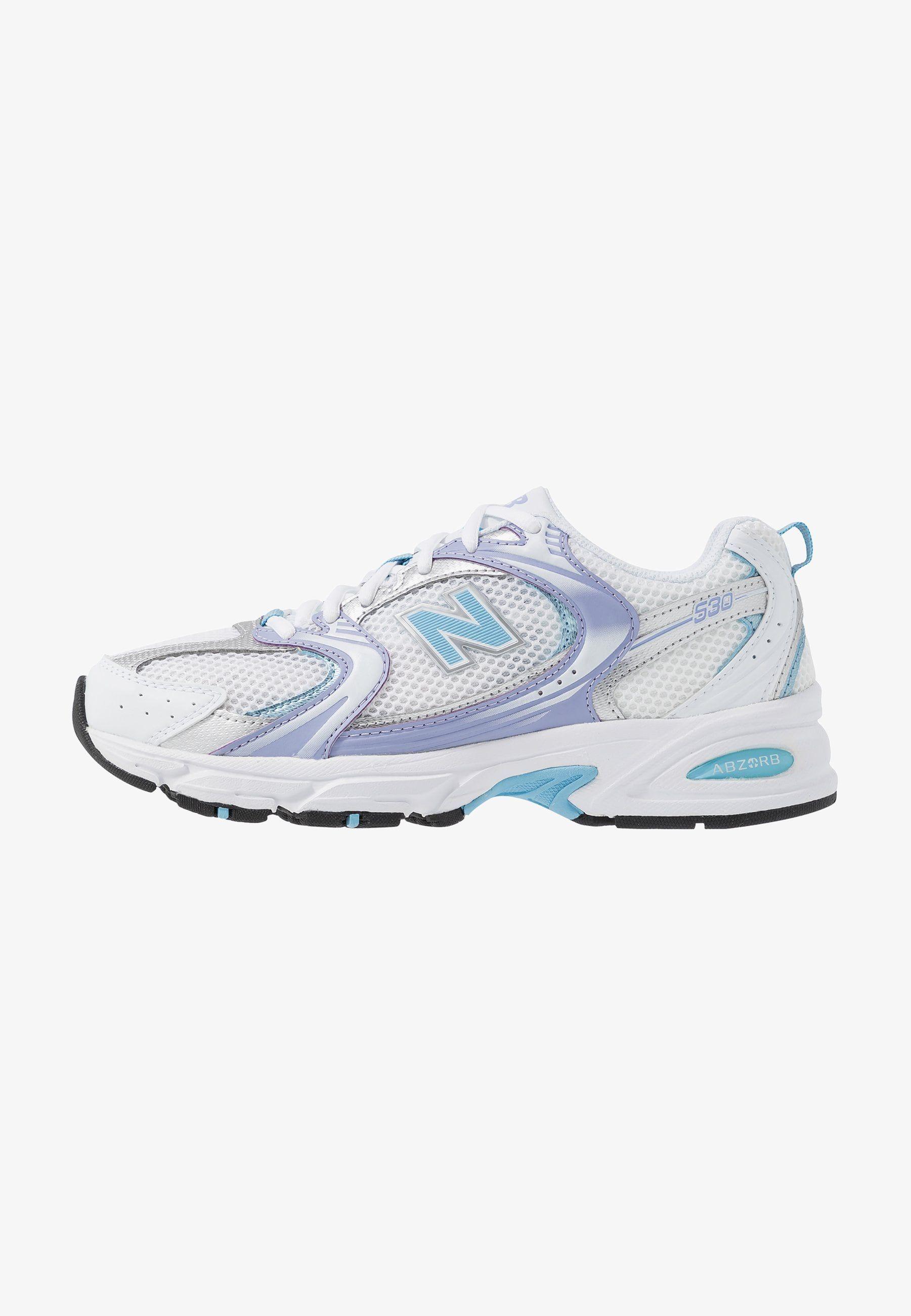 MR530 - Sneakers laag - white/purple/light blue @ Zalando.nl ...