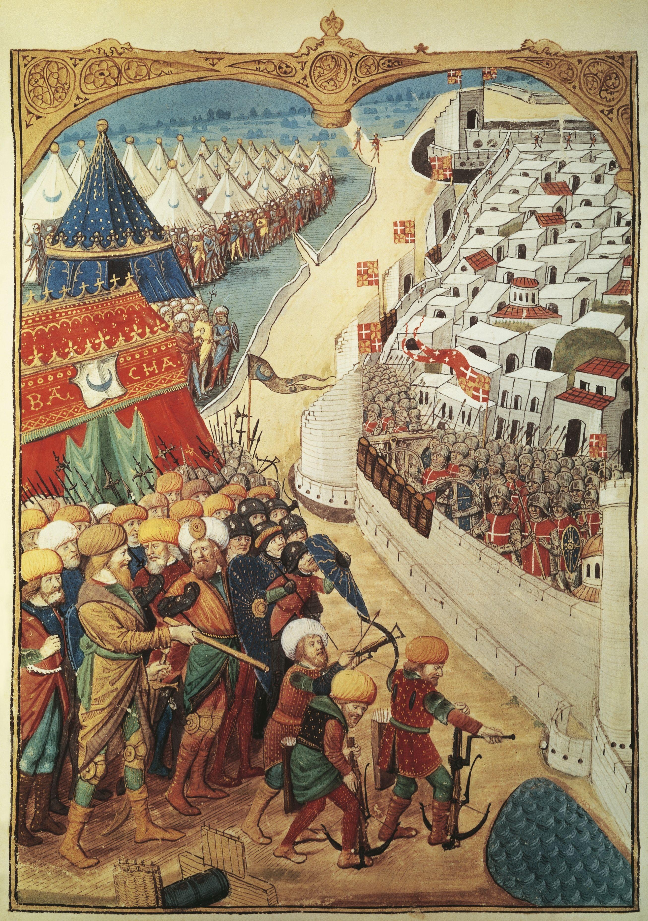 Trupele Sultanului Mahomed Al Ii Lea Asediază Constantinopolul Tarih Turkler Sultan
