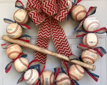 Photo of Softball and Baseball Wreath