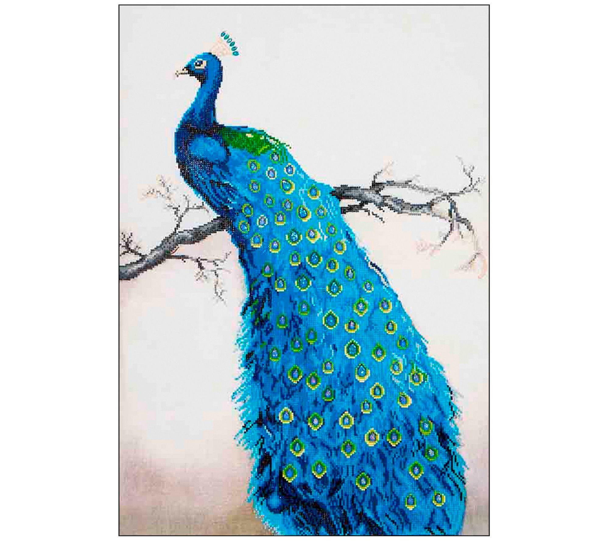 Diamond dotz blue peacock facet art kit